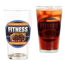Fitness - Hamburger Drinking Glass