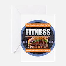 Fitness - Hamburger Greeting Cards