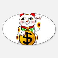 Dollar Lucky Cat Maneki Neko Decal
