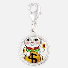 Dollar Lucky Cat Maneki Neko Charms