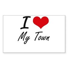 I love My Town Decal