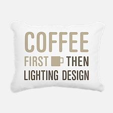 Coffee Then Lighting Des Rectangular Canvas Pillow