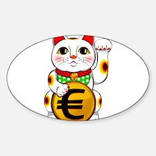 Euro Lucky Cat Maneki Neko Decal