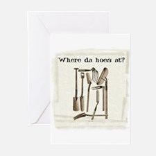Where da hoes at? Greeting Cards (Pk of 10)