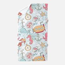Whimsical Sea Life Beach Towel