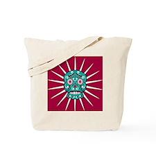 Frightened Sugar Skull Tote Bag