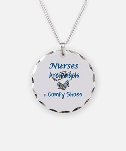 NURSES ARE ANGELS IN COMFY S Necklace