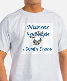 NURSES ARE ANGELS IN COMFY SHOES T-Shirt