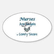 NURSES ARE ANGELS IN COMFY SHOES Decal