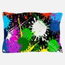 Paint Splatter Pillow Case