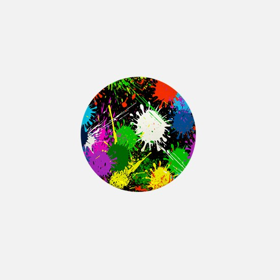 Paint Splatter Mini Button