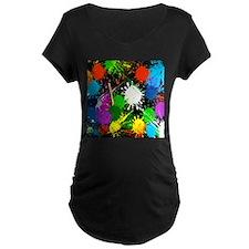 Paint Splatter Maternity T-Shirt