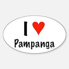 I love Pampanga Oval Decal