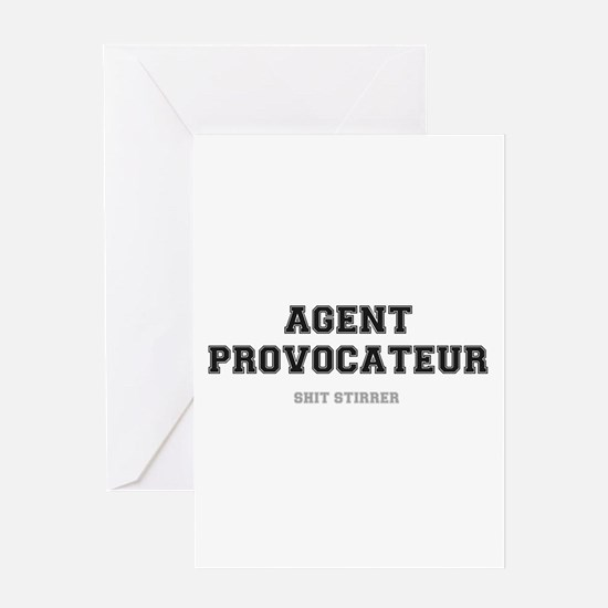 AGENT PROVOCATEUR - SHIT STIRRER! Greeting Cards