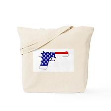 USA flag gun Tote Bag