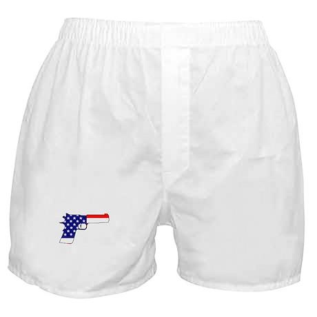 USA flag gun Boxer Shorts