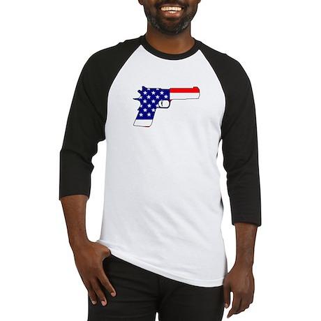 USA flag gun Baseball Jersey