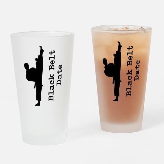 Black Belt Drinking Glass