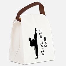 Black Belt Canvas Lunch Bag