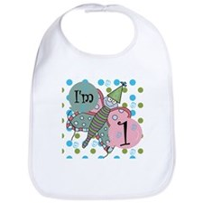 Butterfly 1st Birthday Bib