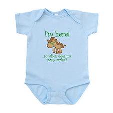 Unique When does the pony arrive Infant Bodysuit