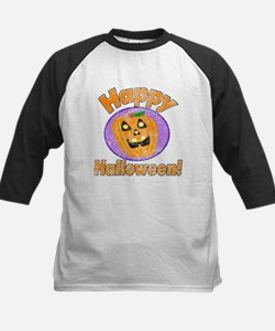 Vintage Happy Halloween Graphic Baseball Jersey