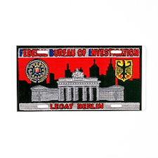 FBI LEGAT Berlin Aluminum License Plate