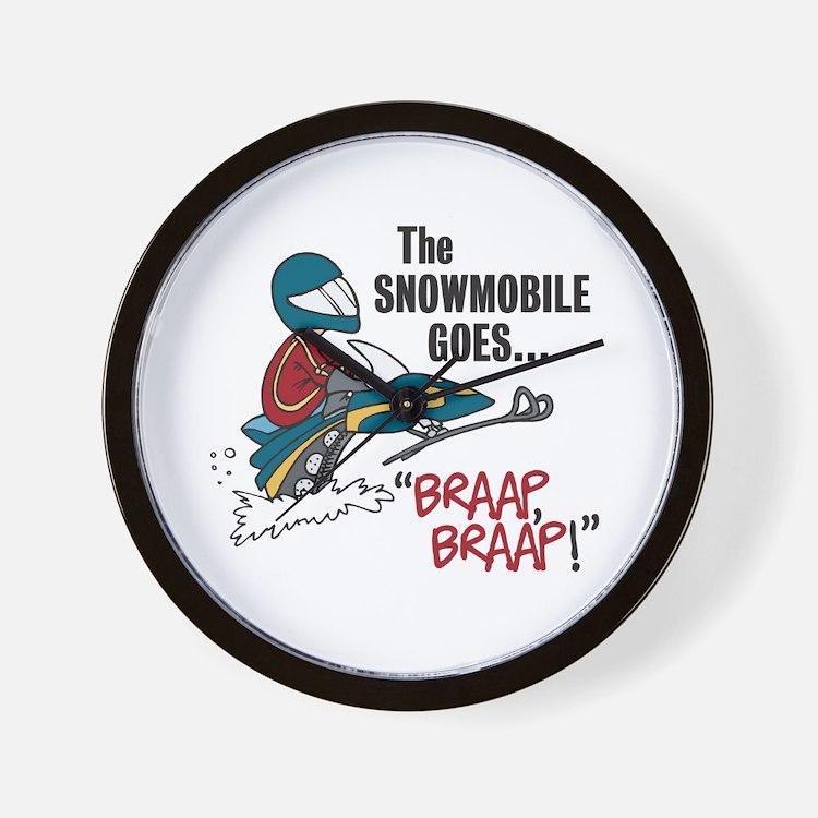 The Snowmobile Goes Braap, Braap Wall Clock