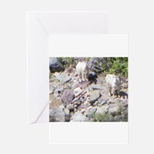 Riverbed goats Greeting Cards