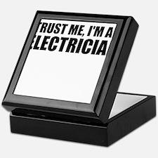Trust Me, I'm An Electrician Keepsake Box