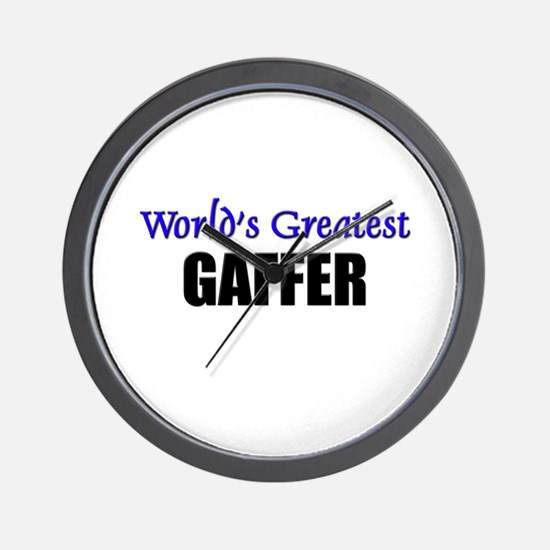 Worlds Greatest GAFFER Wall Clock