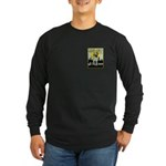 VINTAGE CAT ART Long Sleeve Dark T-Shirt