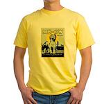 VINTAGE CAT ART Yellow T-Shirt