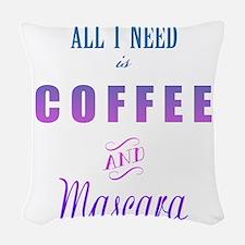 Coffee and Mascara Woven Throw Pillow