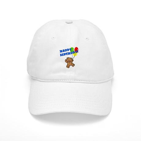Birthday Bear & Balloons Cap