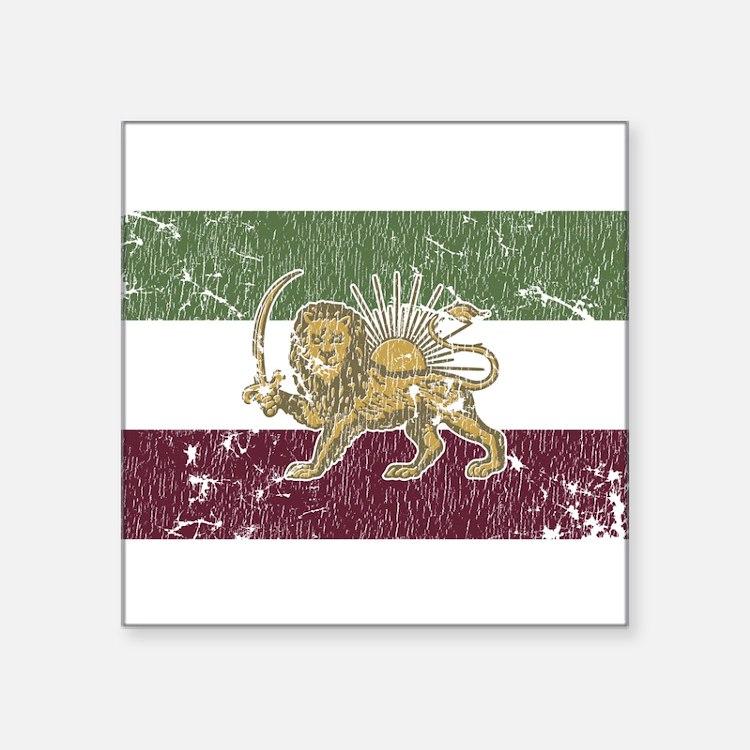 """Cute Iran Square Sticker 3"""" x 3"""""""