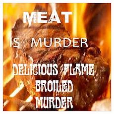 MEAT murder humor Poster