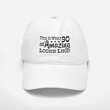 Funny 90th Birthday Baseball Baseball Cap