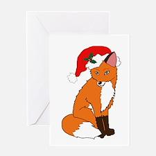 Foxy Santa Greeting Cards