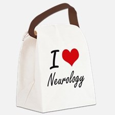 I Love Neurology Canvas Lunch Bag