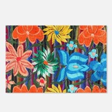 Mexican Flower Embroidery Postcards (Package of 8)