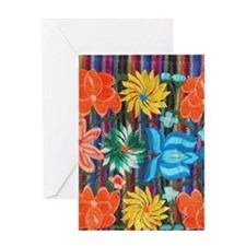 Mexican Flower Embroidery Greeting Cards