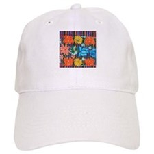 Mexican Flower Embroidery Baseball Cap