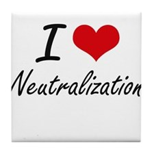 I Love Neutralization Tile Coaster