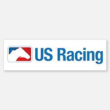 US Racing - No Slogan, Light Backgr Bumper Bumper Bumper Sticker