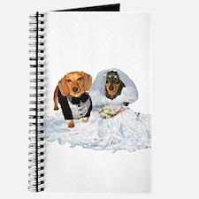 Wedding Dachshunds Dogs Journal