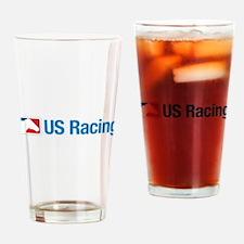 US Racing - No Slogan, Light Backgr Drinking Glass