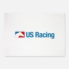 US Racing - No Slogan, Light Backgr 5'x7'Area Rug