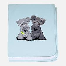 KiniArt Cesky Terriers baby blanket