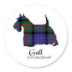 Terrier-Gall.MacDonald Round Car Magnet